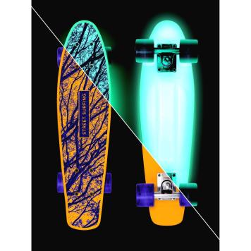 Svietiaci penny board Street Surfing Beach Board Glow Mystic Forest 22