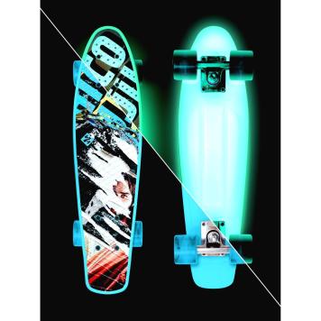 Svietiaci penny board Street Surfing Beach Board Glow Rough Poster 22