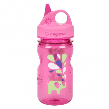 Detská fľaša NALGENE Grip'n Gulp 350ml Pink Elephant
