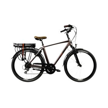 "Mestský elektrobicykel Devron 28221 28"" - model 2022 Brown - 21"" - Záruka 10 rokov"