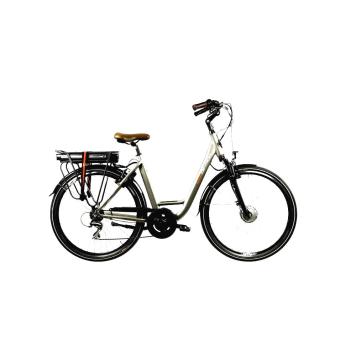 "Mestský elektrobicykel Devron 28120 28"" - model 2022 Silver - 19"" - Záruka 10 rokov"