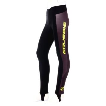 Pánske cyklistické nohavice s trakmi Crussis CSW-072 čierno-žltá - 3XL