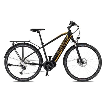 "Trekingový elektrobicykel 4EVER Mercury Elite Trek - model 2021 čierna/zlatá - 21"" - Záruka 10 rokov"