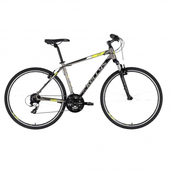 "Pánsky crossový bicykel KELLYS CLIFF 30 28"" - model 2021 Grey - L (21'') - Záruka 10 rokov"
