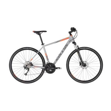 """Pánsky crossový bicykel KELLYS PHANATIC 30 28"""" - model 2021 Grey - L (21'') - Záruka 10 rokov"""