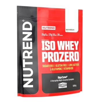 Práškový koncentrát Nutrend ISO WHEY Prozero 500 g biela čokoláda